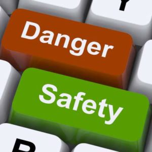 two pc keys reading danger and safety